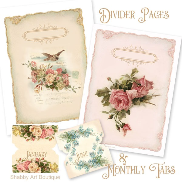 2019 Vintage Calendar and Planner with all the extras from Shabby Art Boutique