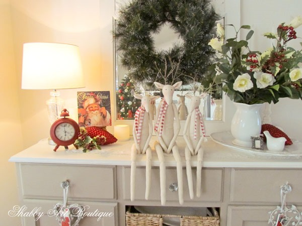 3 fabric Tilda Reindeers at Shabby Art Boutique