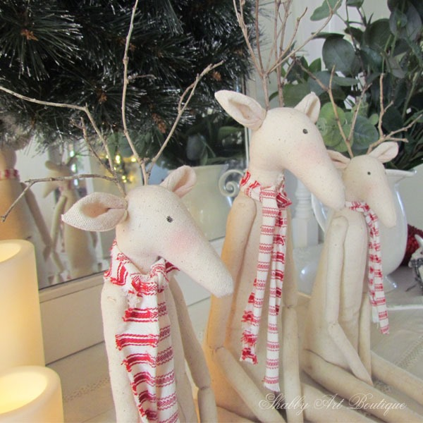Close up of Tilda Reindeers at Shabby Art Boutique