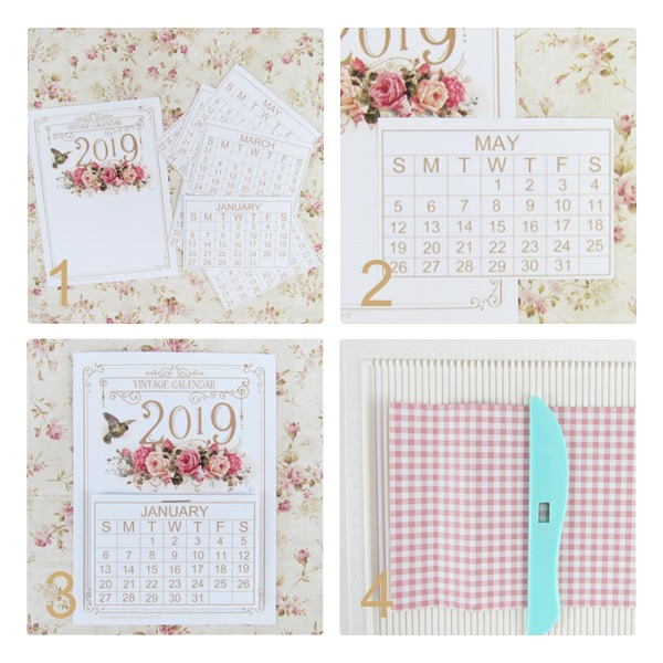 How to make a standing mini calendar by Shabby Art Boutique