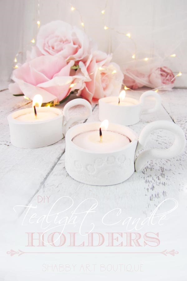 How to make clay Tealight Candle Holders by Shabby Art Boutique