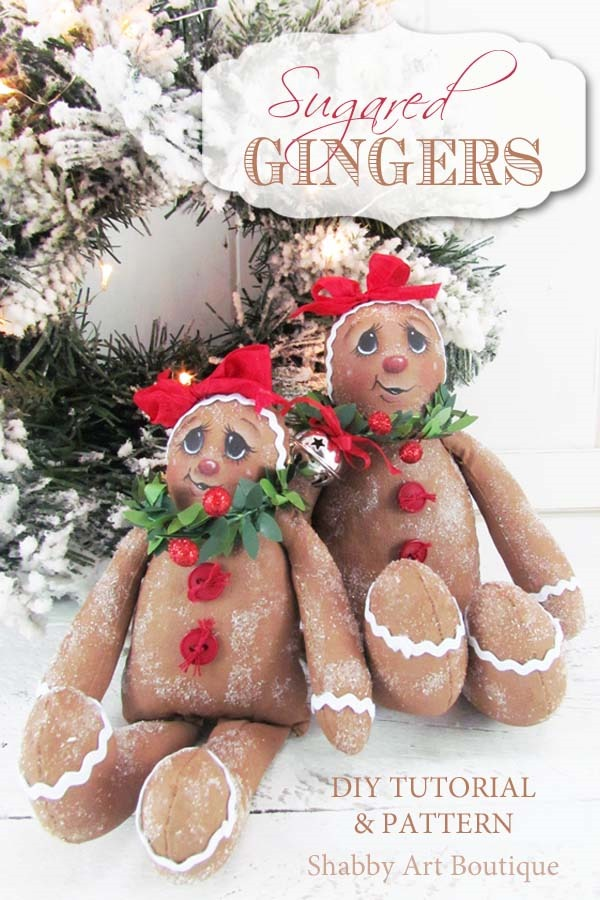 Pattern and tutorial for making Sugared Ginger dollsby Shaby Art Boutique