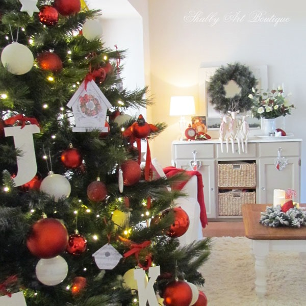 Red and White Christmas - Shabby Art Boutique