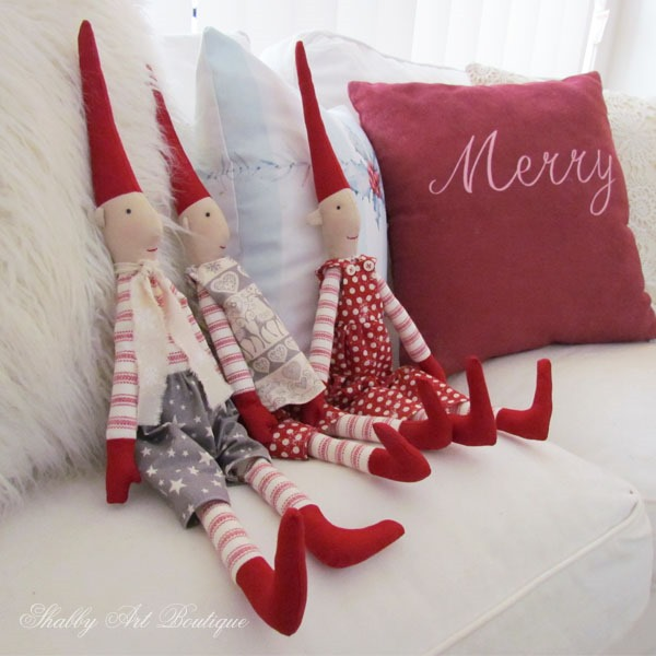 Red and white Christmas at Shabby Art Boutique
