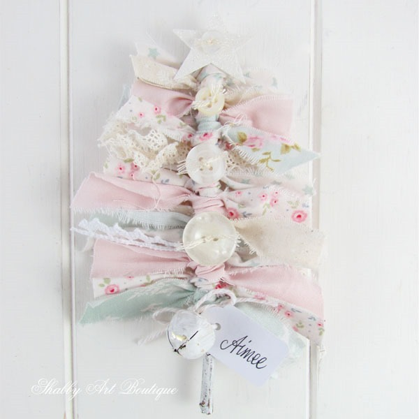 Tutorial for making a shabby Christmas tree tag - step 5 - Shabby Art Boutique
