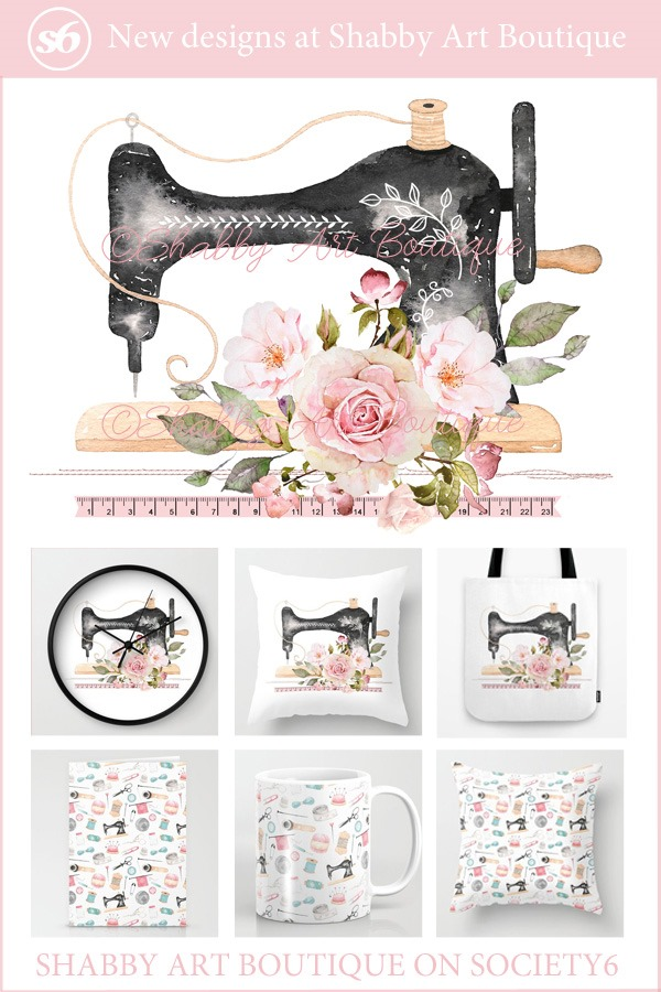 New Craft Room designs by Shabby Art Boutique - available on Society6 in an array of products