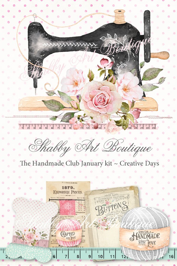 The Handmade Club from Shabby Art Boutique presents January kit Creative Days - available until February 14th 2019