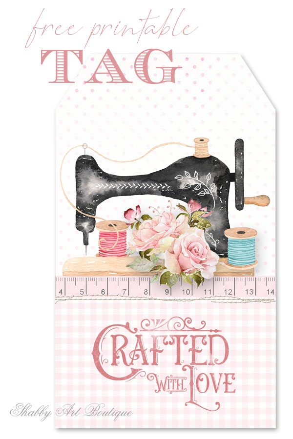 This gorgeous crafty tag is available to download free from Shabby Art Boutique