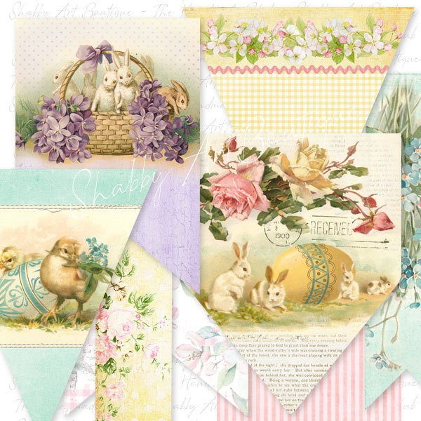February 2019 kit from the Shabby Art Boutique Handmade Club - banner