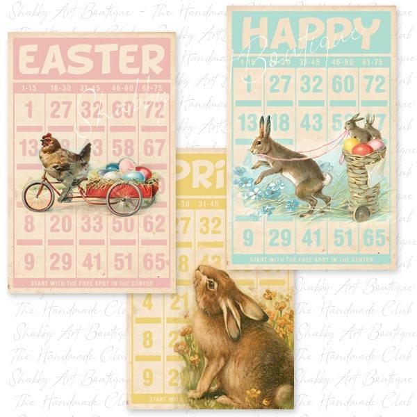 February 2019 kit from the Shabby Art Boutique Handmade Club - bingo cards