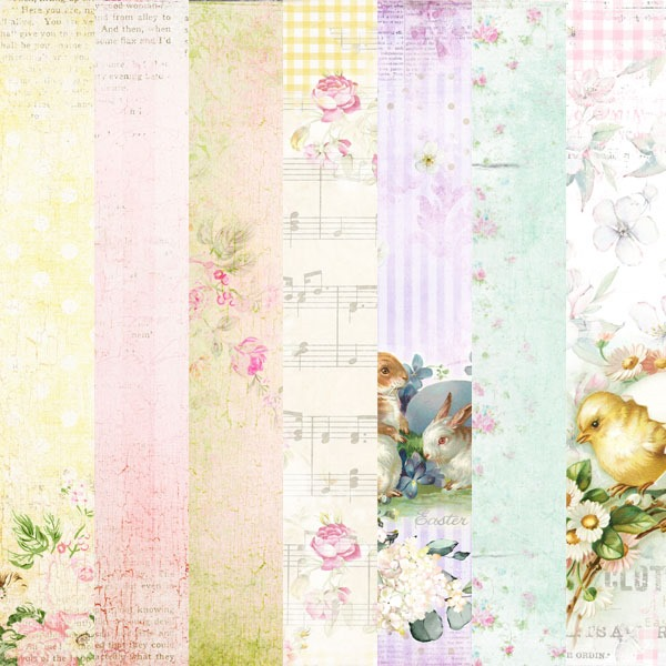 February 2019 kit from the Shabby Art Boutique Handmade Club - pretty papers for crafting