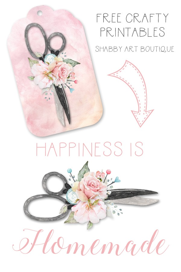 Free crafty printables from Shabby Art Boutique
