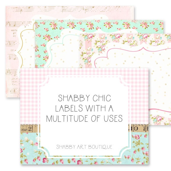 A variety of shabby chic labels are avaialbel from the March kit of the Handmade Club at Shabby Art Boutique