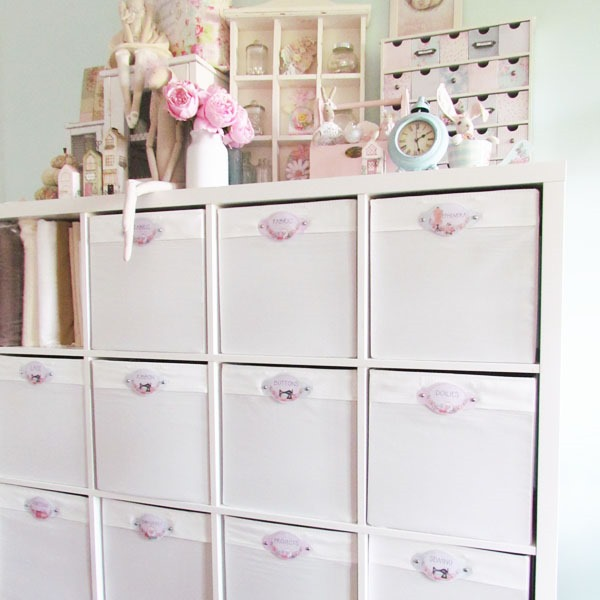 labelled storage at Shabby Art Boutique