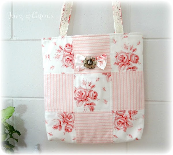 ELEFANTZ buttons and bows bag shabby chic main