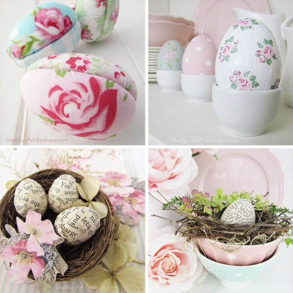 Easter Egg craft tutorials from Shabby Art Boutique