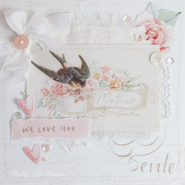 Free Mother's Day vintage printable for card making from Shabby Art Boutique