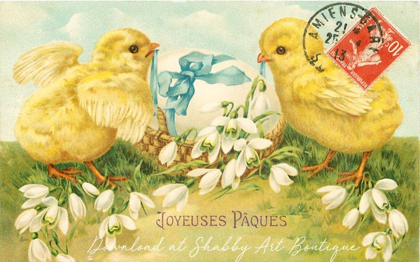 Free to download from Shabby Art Boutique - plus more vintage postcards