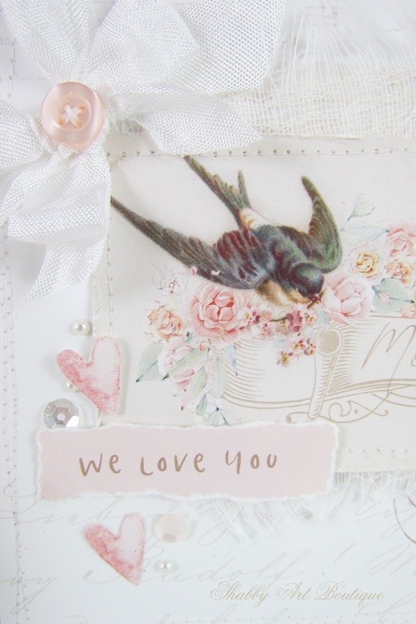 Handmade Mother's Day card printable from Shabby Art Boutique