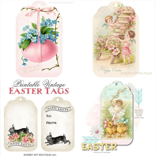 Printable Easter Tags from Shabby Art Boutique