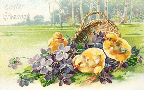 Sweet vintage Easter postcards to downlaod free at Shabby Art Boutique
