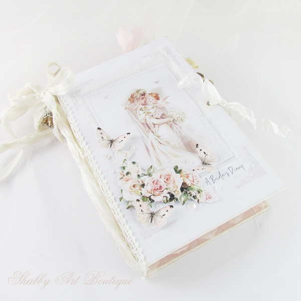 A Brides Diary themed junk journal by Shabby Art Boutique