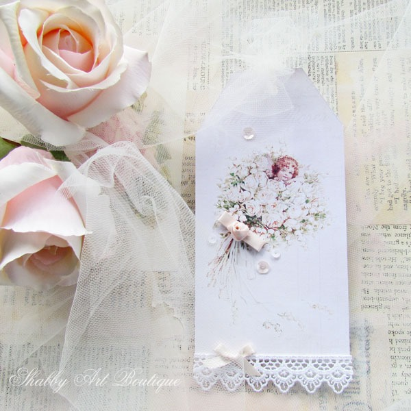 Handmade Tags by Shabby Art Boutique using the May Kit of the Handmade Club