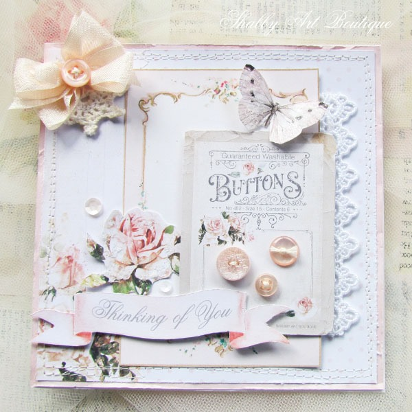 Handmade cards by Shabby Art Boutique using elements from the May Kit of the Handmade Club