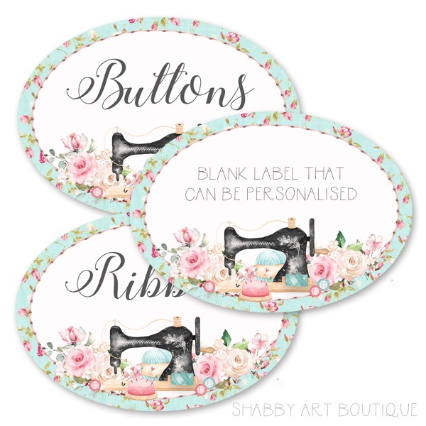 Printable crafting labels that can be personalised to suit your needs from Shabby Art Boutique
