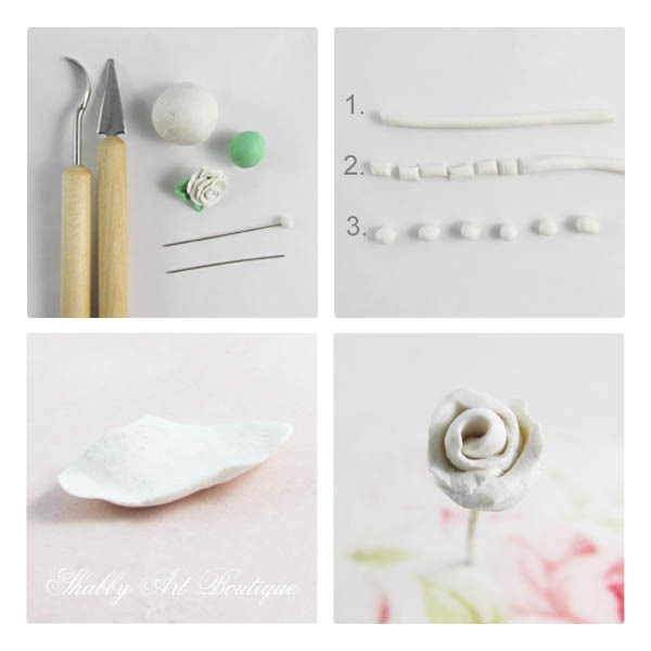 A tutorial for making decorative pin toppers for your pincushion by Shabby Art Boutique