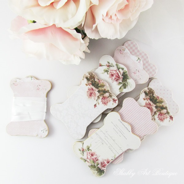 Beautiful vintage ribbon boards - a tutorial by Shabby Art Boutique