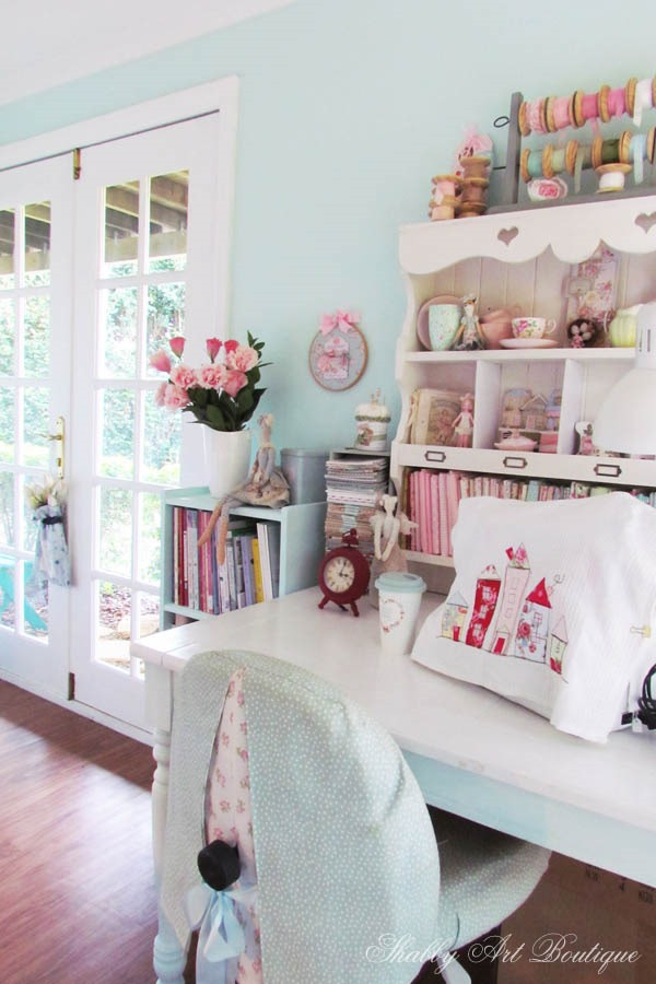 Making a few changes in the craft room at Shabby Art Boutique