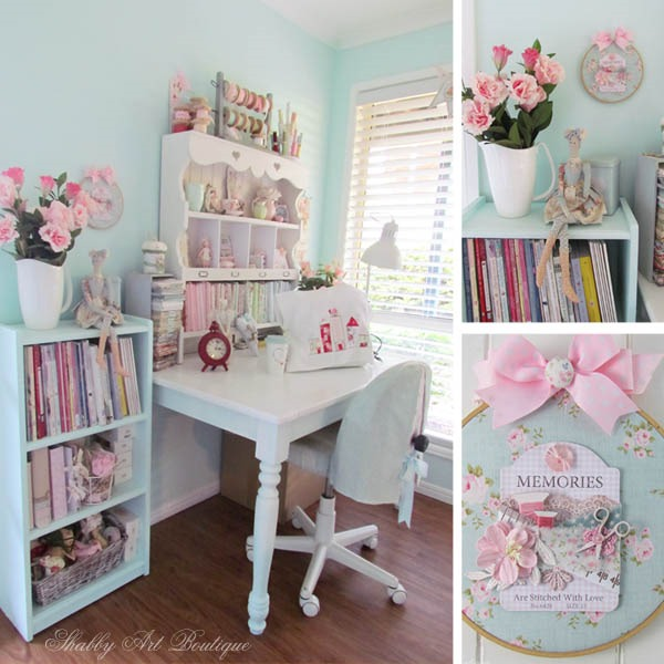 Making some changes in the craft room at Shabby Art Boutique