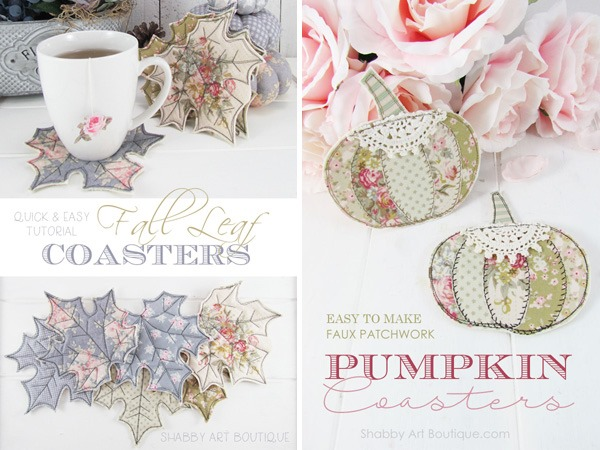 Fabric Coaster Tutoriasl by Shabby Art Boutique