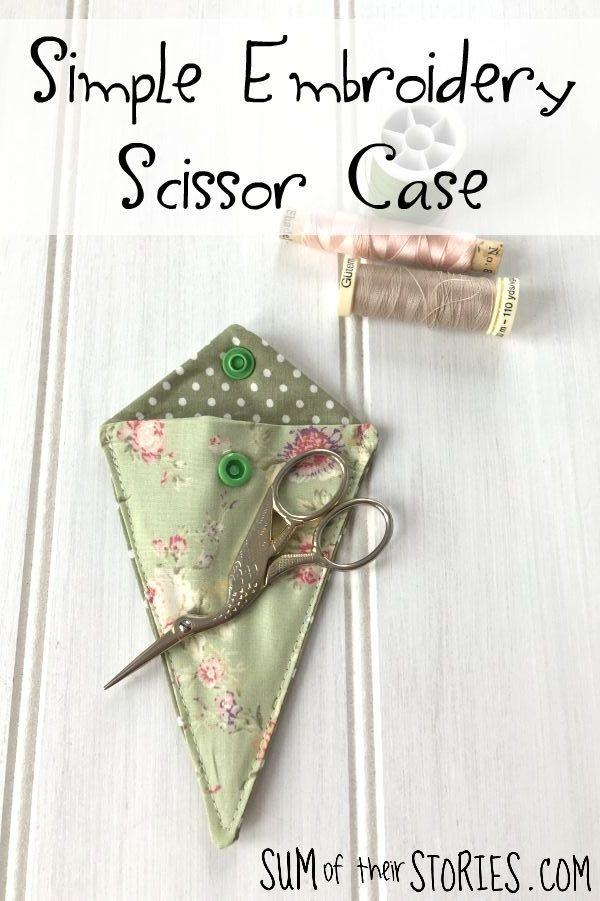 simple embroidery scissor case