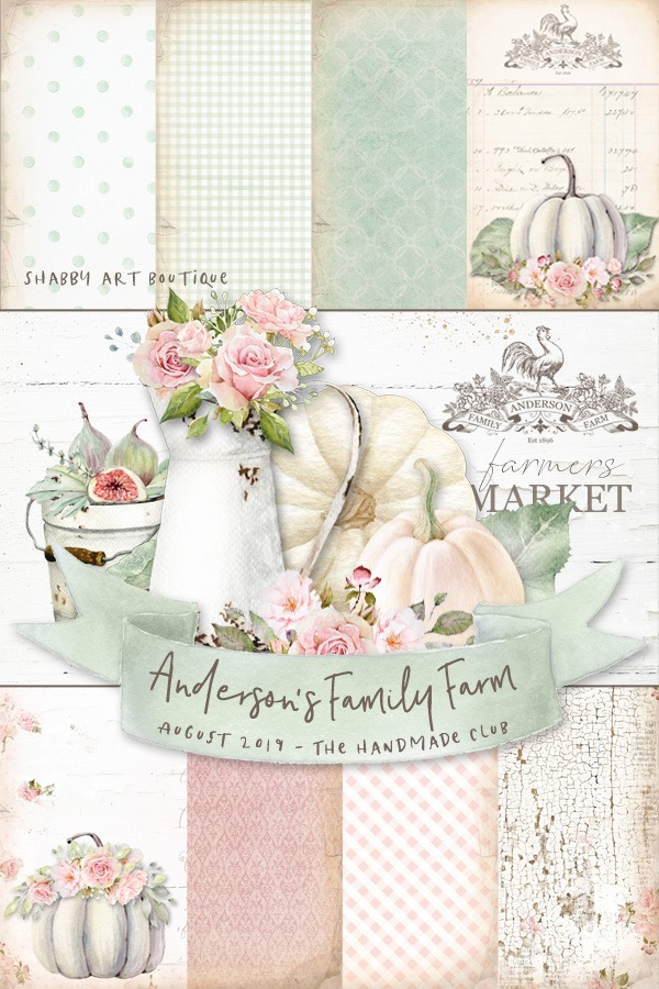 Andersons Family Farm Kit for August in the Handmade Club by Shabby Art Boutique