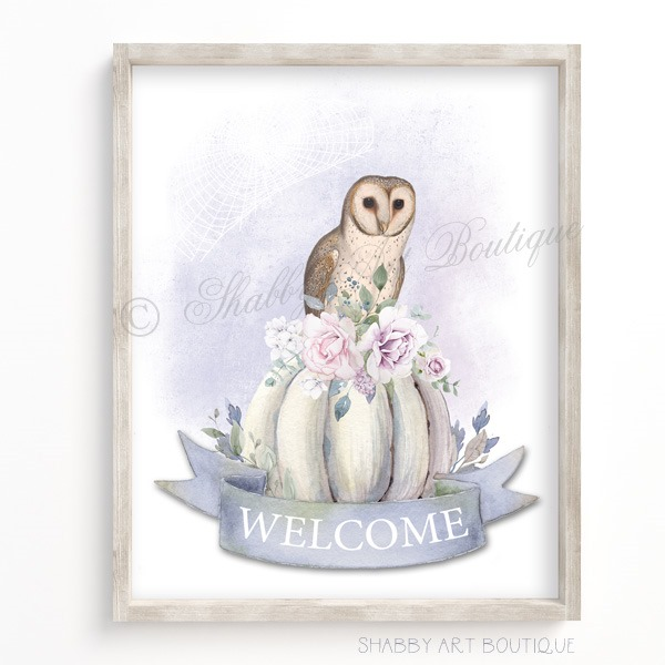 Download this free shabby chic Halloween printable from Shabby Art Boutique