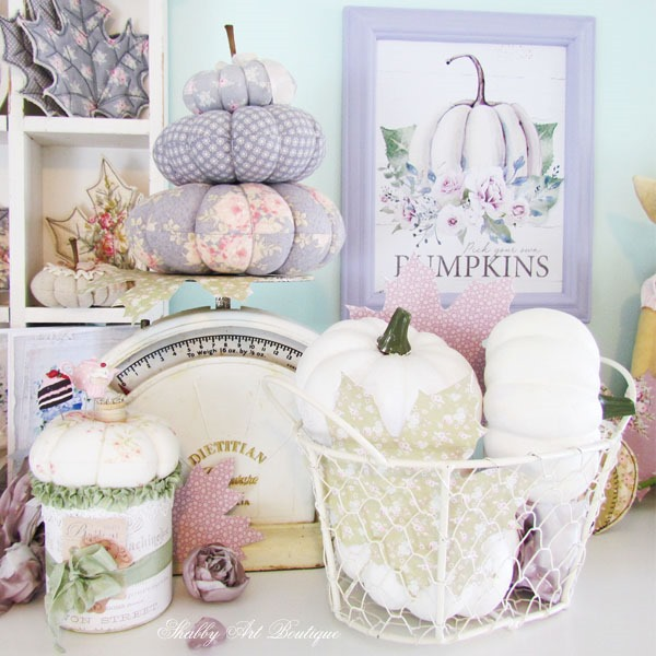Fall handmade projects in the craft room at Shabby Art Boutique