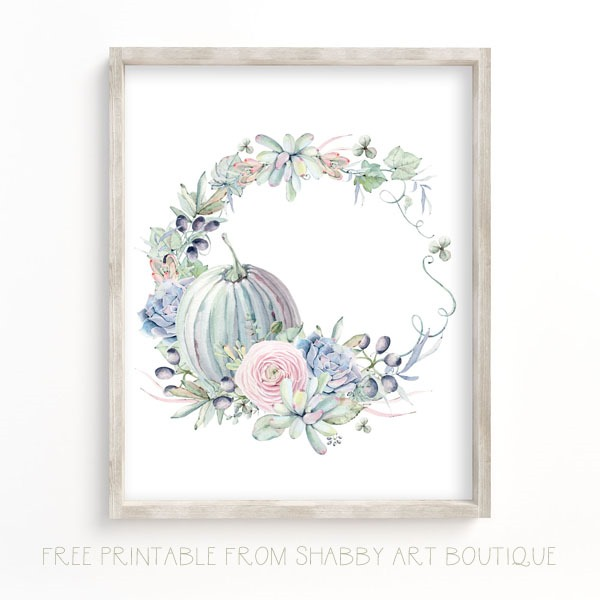 Free Fall & Autumn printables from Shabby Art Boutique - 1