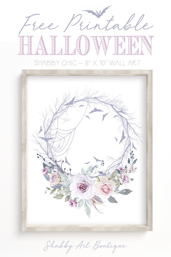Free Printable Shabby Halloween Wall Art by Shabby Art Boutique