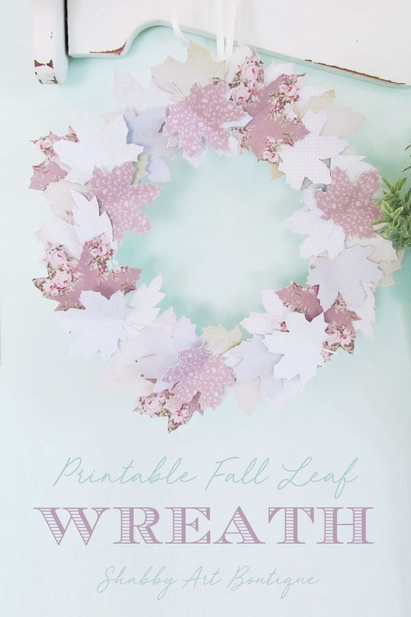 Free printable fall leaf wreath DIY by Shabby Art Boutique