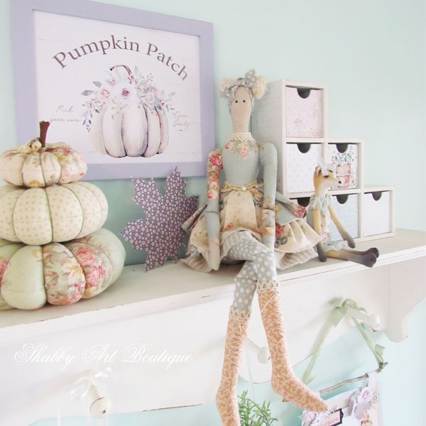 Handmade fall projects in the craft room at Shabby Art Boutique