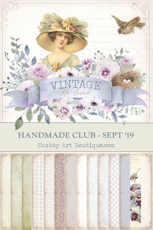 Vintage Re-loved kit for September Handmade Club for Shabby Art Boutique