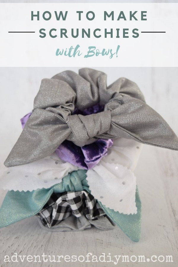 how to make scrunchies with bows 2