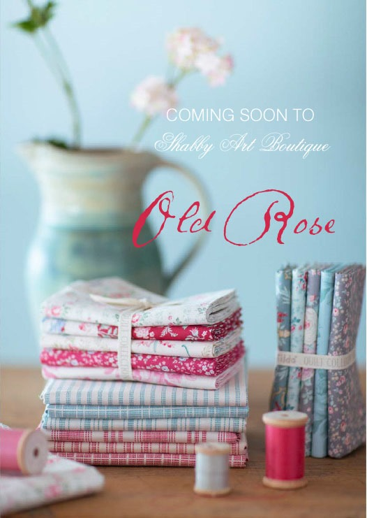 Coming soon to Shabby Art Boutique - gorgeous Tilda fabrics