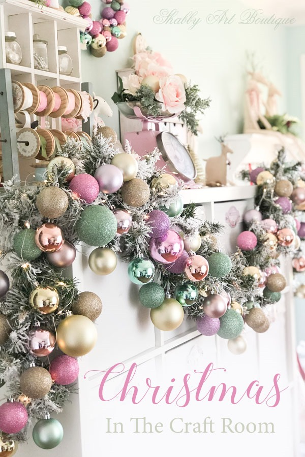 A Christmas Craft Room Tour at Shabby Art Boutique