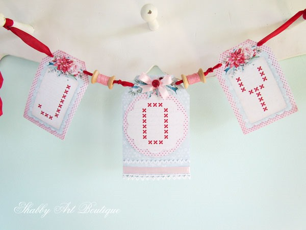 Christmas in the Shabby Art Boutique craft room - printable JOY banner