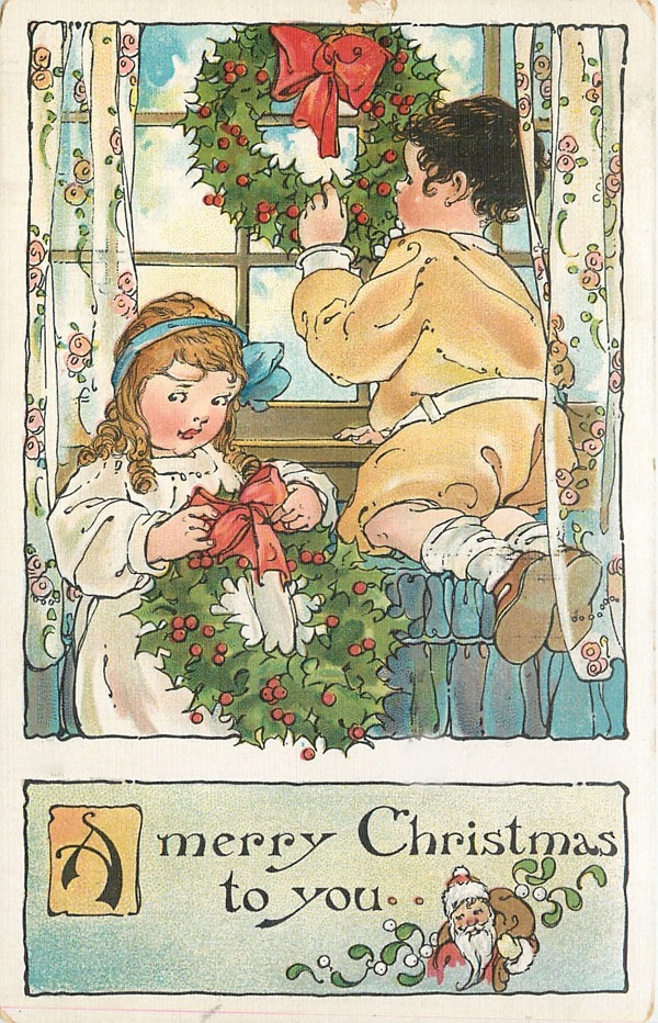 Download this set of 9 printable vintage Christmas postcards at Shabby Art Boutique - postcard 5