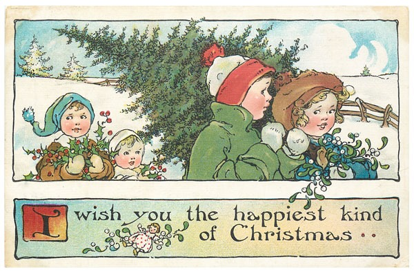 Download this set of 9 printable vintage Christmas postcards at Shabby Art Boutique