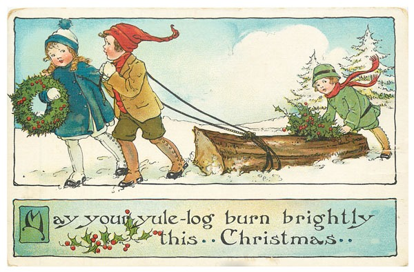 Download this set of nine printable vintage Christmas postcards at Shabby Art Boutique